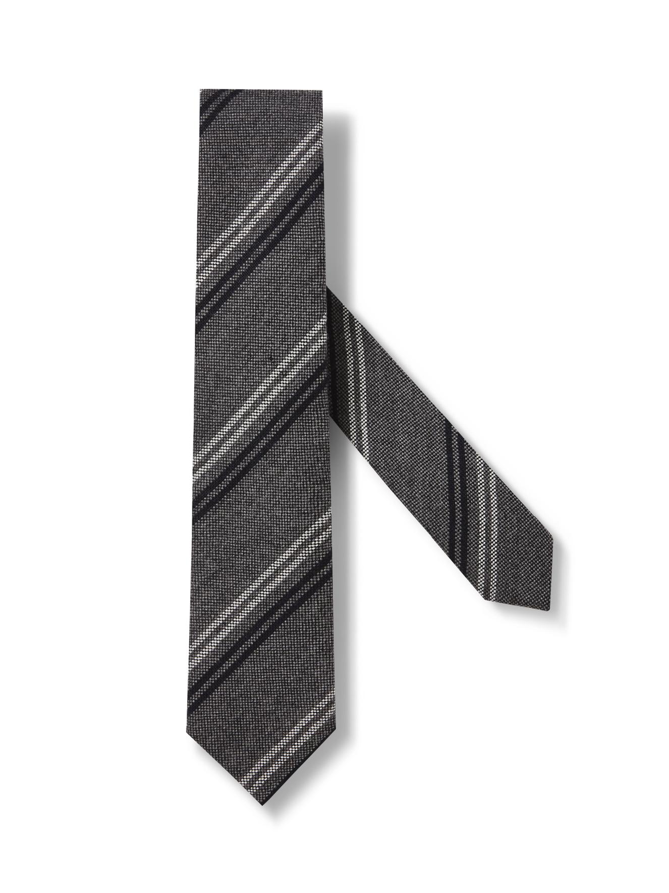 Grey Cashmere Tie By Ermenegildo Zegna