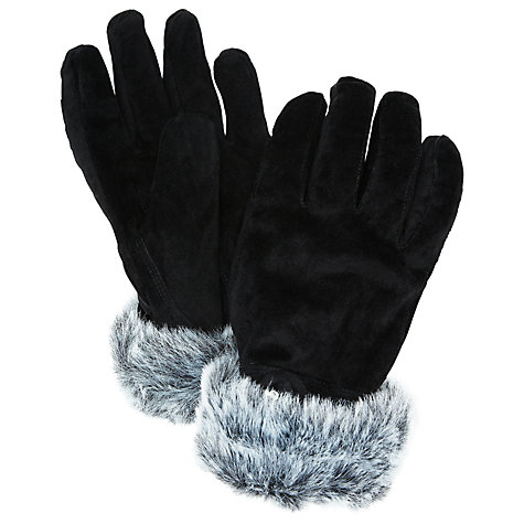 Suede Faux Fur Trim Gloves £42