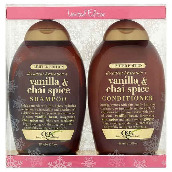 OGX Shampoo and Conditioner Gift Pack, Vanilla & Spice £8.49