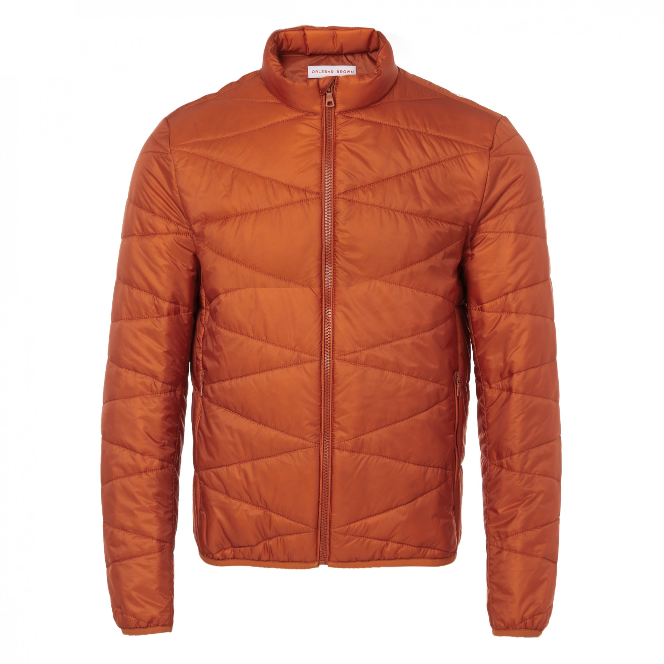 Nolan Dark Papaya Lightweight Quilted Jacket
