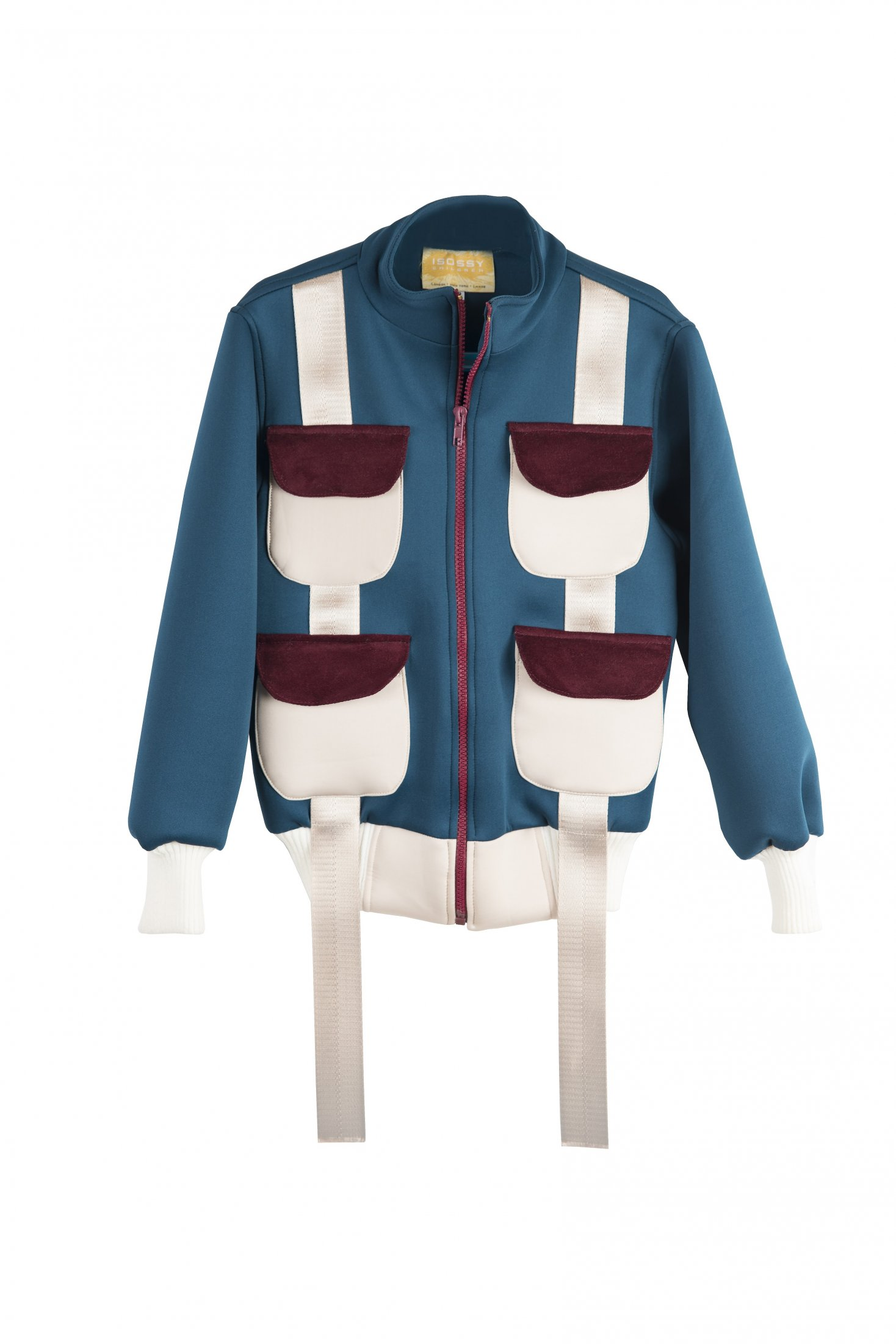 Children Pocket Teal Scuba Jacket £95