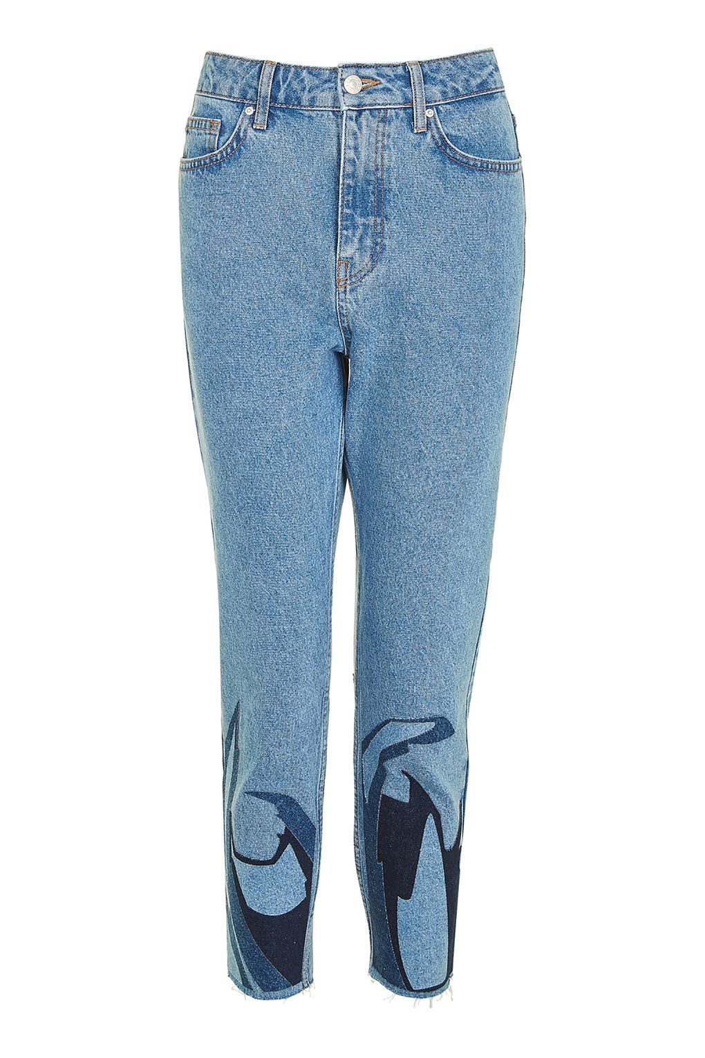 MOTO Abstract Hem Mom Jeans £55