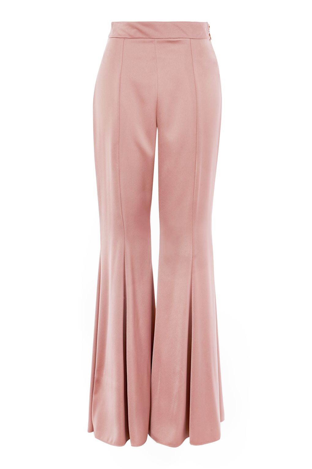 Satin Super Flare Trousers £49