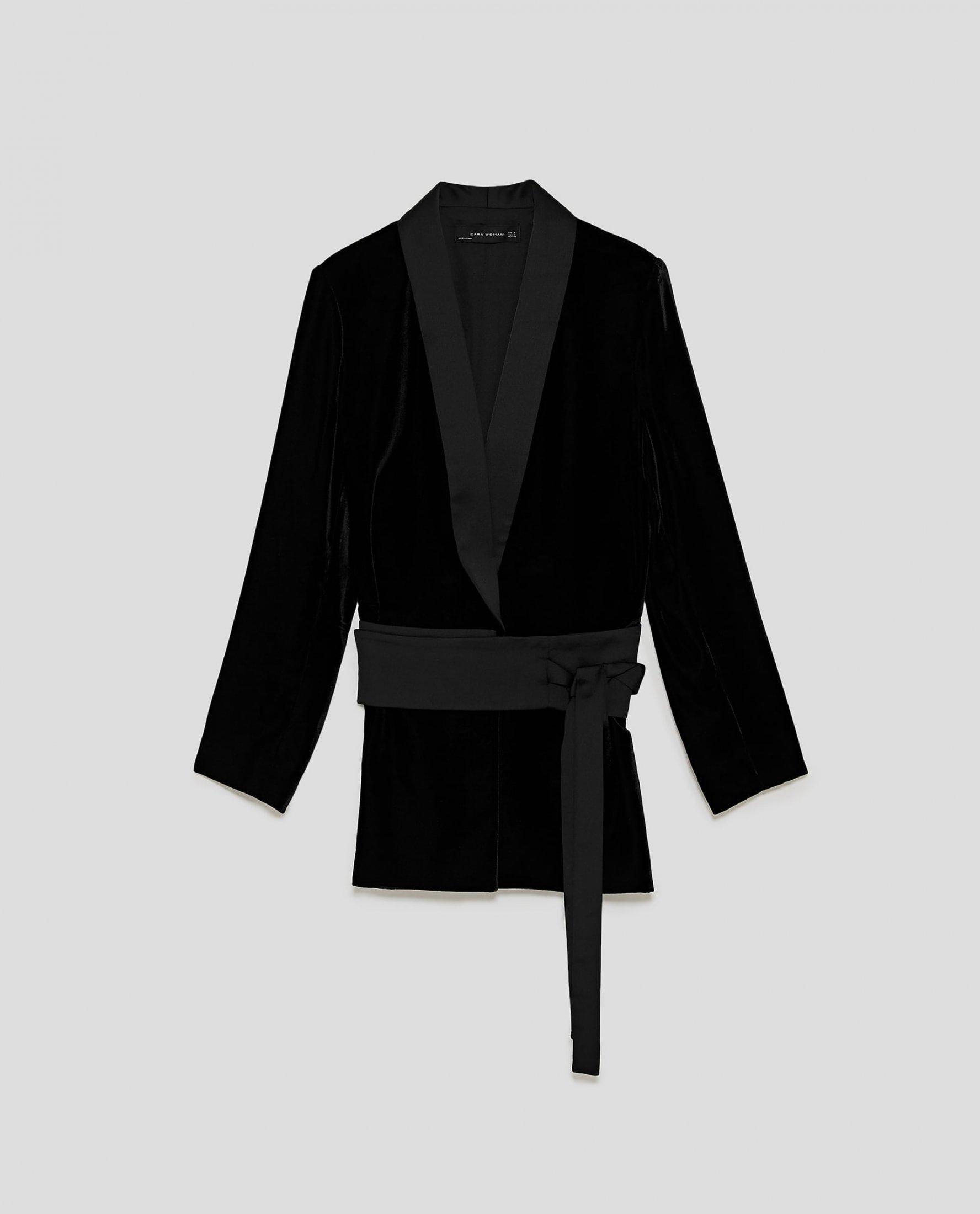 Velvet Jacket with Sash Belt £79.99