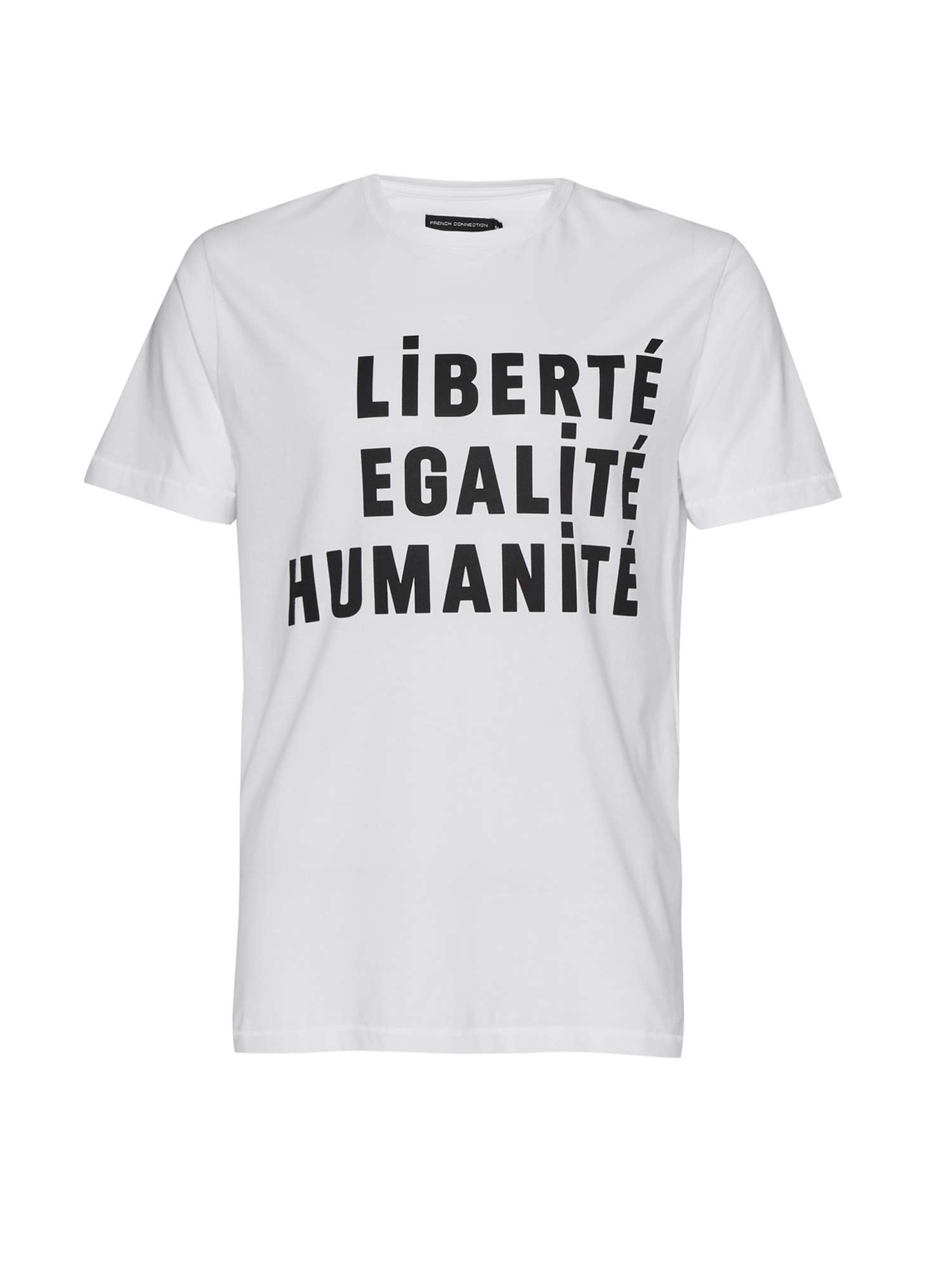 French Connection Egalite Slogan Cotton T-shirt £25