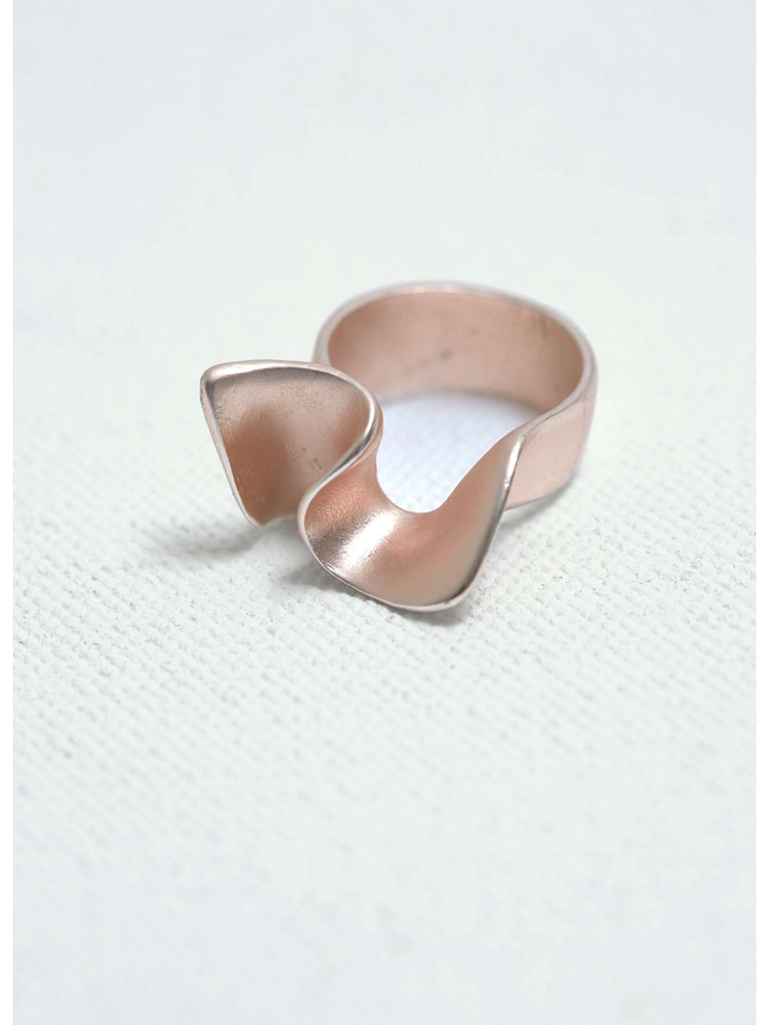 Mint Velvet Rose Gold Abstract Twist Ring £17.60