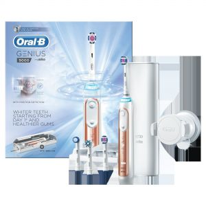 Oral B Genius 9000 Rose Gold Electric Toothbrush + 4 Heads £84.95