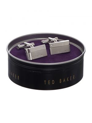 Ted Baker Halfit Cornerstone Brushed Cufflink
