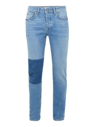 Mid Blue Patch Stretch Skinny Jeans £20