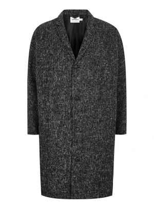 Black White Textured Oversized Overcoat £68