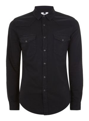 Black Stretch Western Shirt £12