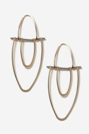 Split Oval Drop Earrings £10
