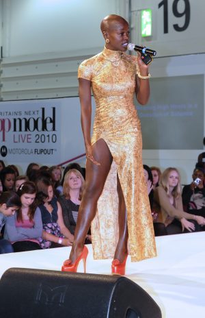 Chyna Whyne at Britain's Next Top Model at the Excel Centre London