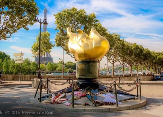 Picture of Flame of Liberty in Paris - a bucket list of 10 things to do in Paris