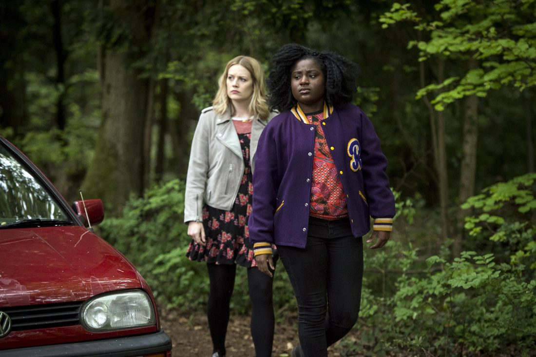 Crazyhead: Episode 3 - Cara Theobold as Amy and Susan Wokoma as Raquel. © Channel 4/E4.