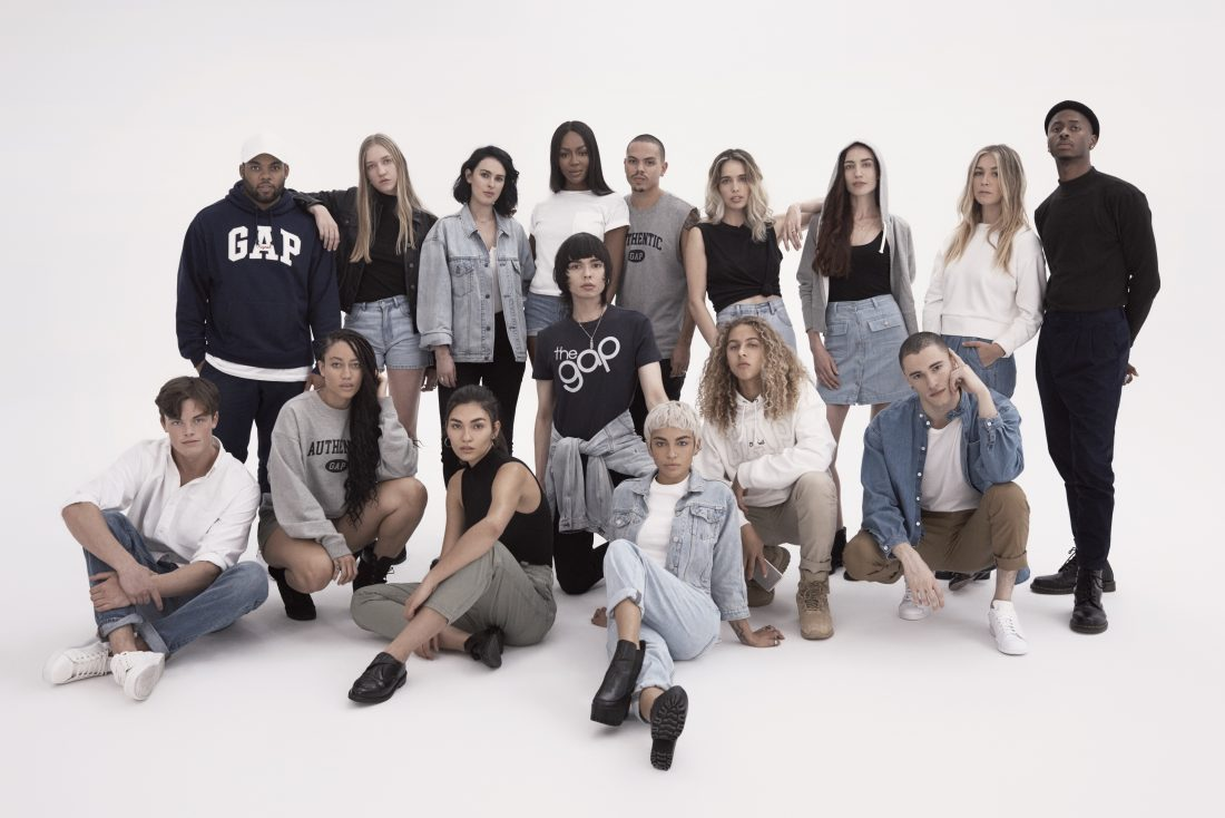 Naomi front and centre in Gap throwback campaign