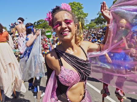 Rio de Janeiro - 63615861 - brazil, state of rio de janeiro, city of rio de janeiro, gloria, bloco orquestra voadora carnival parade.
