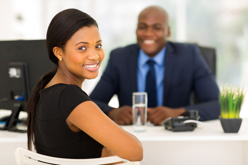 How to give the best interview of your life? 32519160 - attractive african office worker looking back