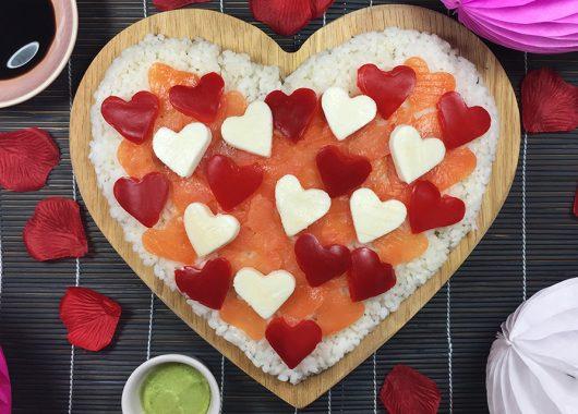 Sushi Heart Pizza: the perfect Valentine aphrodisiac