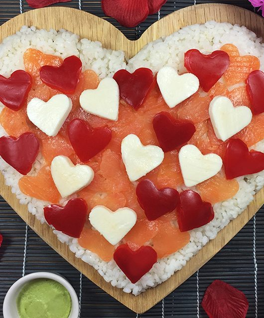 Sushi Heart Pizza: the perfect Valentine aphrodisiac