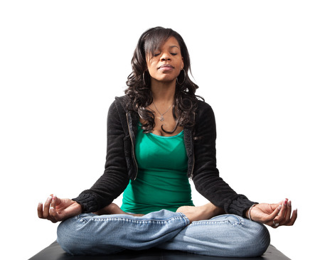 The five skills of a winning solopreneur - 24591225 - serene looking black woman in yoga lotus position