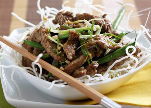 Citrus Welsh beef Rump Stir Fry