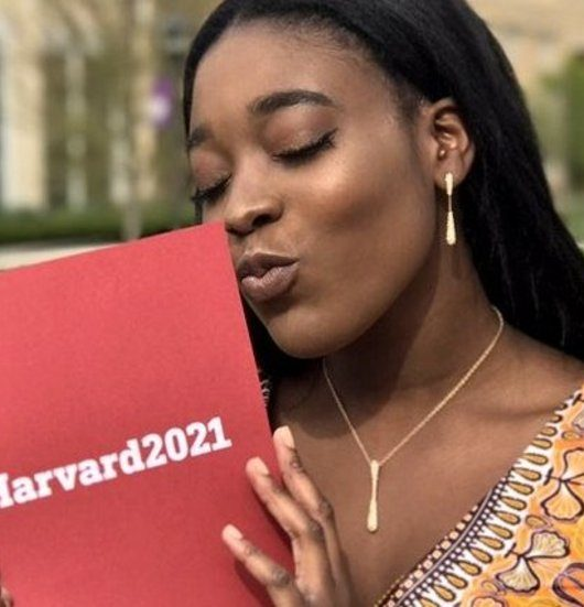 Feature pic Priscilla Samey - This teenager didn't come to play! Takes her Harvard letter to Prom