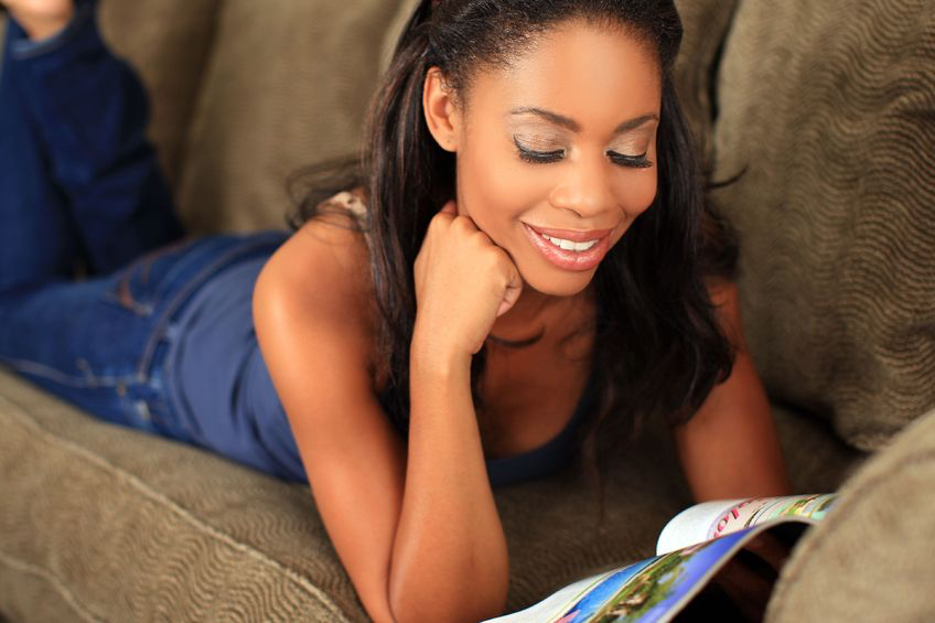 Representation in magazines: where are the black women? 5583420 - woman reading a magazine on the couch