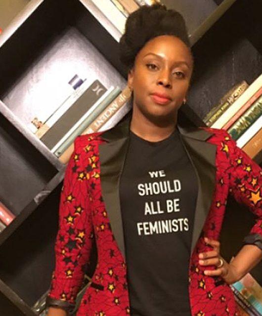 Chimamanda championing the 'Wear Nigerian' movement