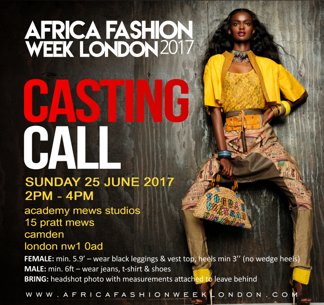 Africa Fashion Week London 2017: Casting Call