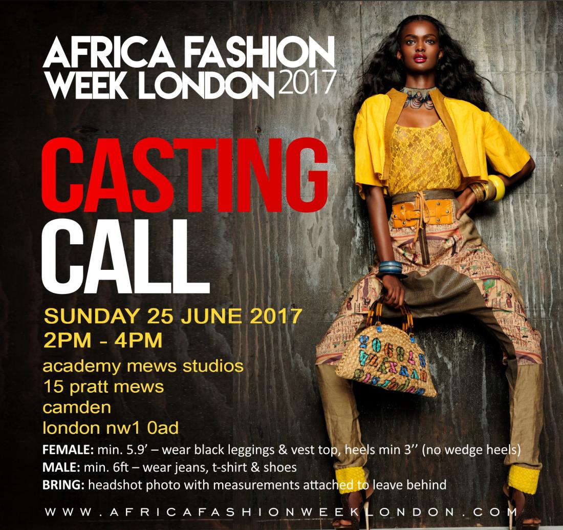 Africa Fashion Week London 2017: Casting Call