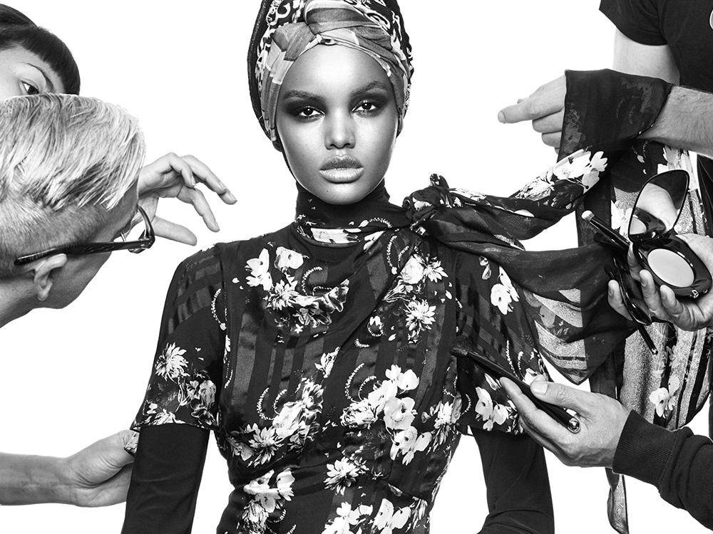 Halima Aden: Photographed by Greg Kadel for Vogue Arabia