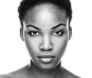 Is it time to say goodbye to your makeup primer? 36958664 - face of an young black beauty in black and white
