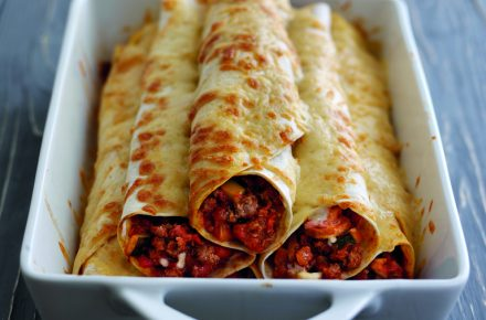 Dish of the week: Baked flour tortillas with spicy Welsh beef mince