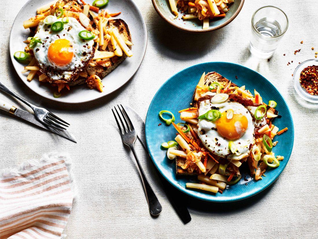 Dish of the week: Korean Kimchi potato slaw on sourdough toast