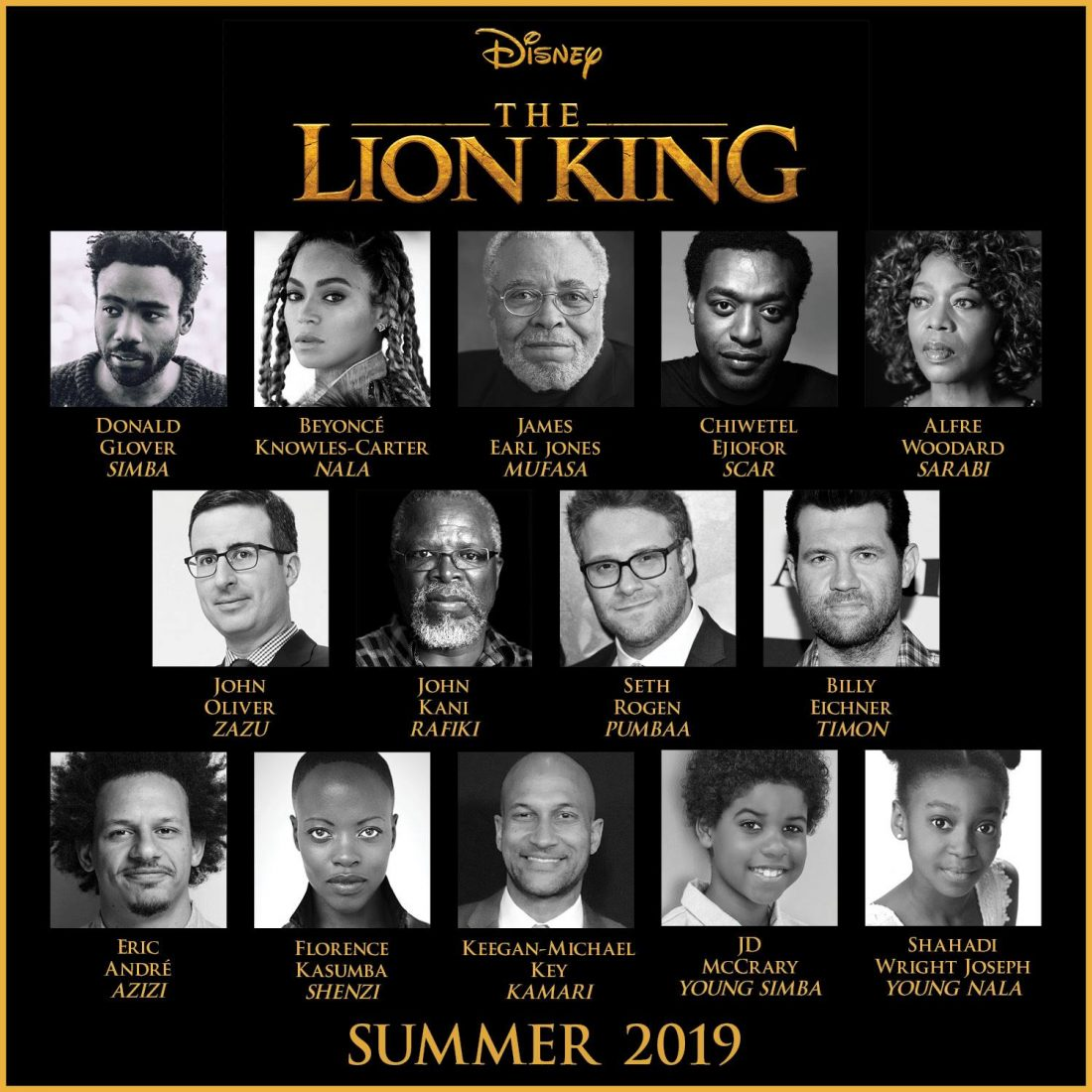 Beyoncé and Donald Glover confirmed to star in Disney's Lion King!