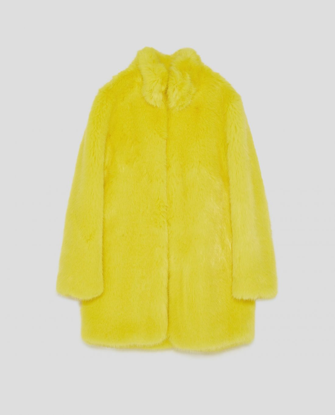 f0efeb21 fashion,faux fur coats,winter coat Colored faux fur Yellow £99.99 Zara