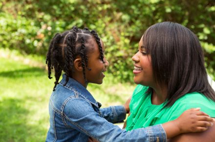 92038142 - happy african american mother and daughter. Do women brought up by single mothers' struggle more in relationships?