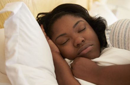 33519176 - overweight woman asleep in bed Want to lose weight? Sleep yourself slimmer
