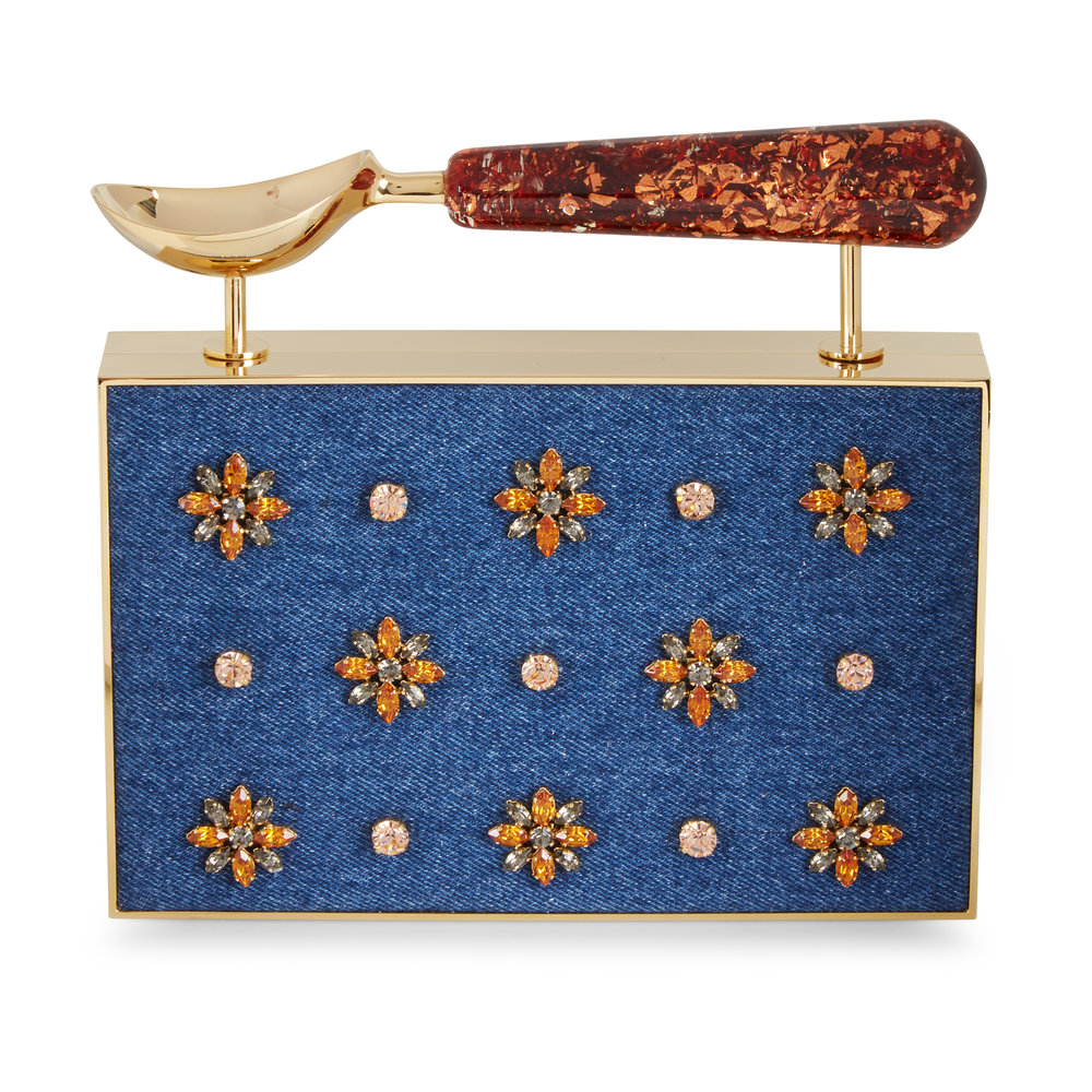 March Picks Denim Spoon Clutch, Lalingi