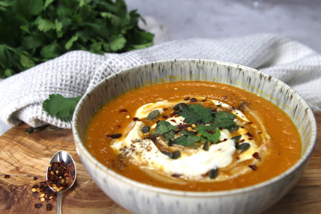Moroccan-spiced carrot soup